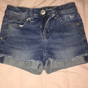 Kids justice jean shorts